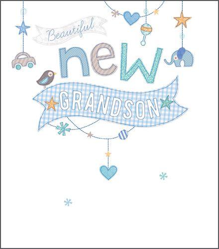 New Grandson Cards - New GRANDSON - CONGRATULATIONS - New BABY Grandson CAR