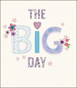 Wedding Day Cards - THE BIG DAY - Congratulations Wedding CARDS - Wedding CARDS - Pretty FLORAL Wedding DAY Card - WEDDING Greeting CARDS