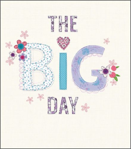 Wedding Day Cards - THE BIG DAY - Congratulations Wedding CARDS - Wedding C