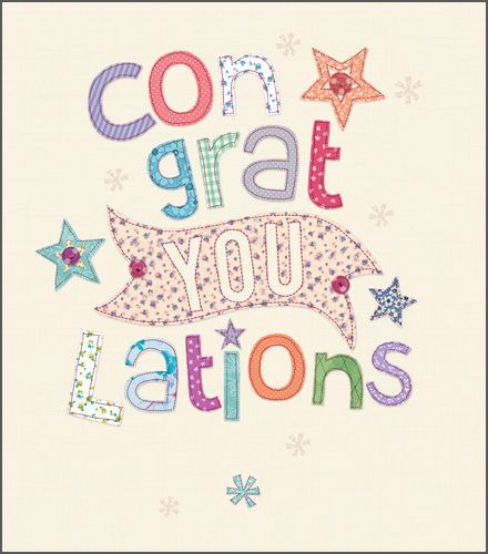 Congratulations Cards - PRETTY Congratulations CARD - Congratulation WISHES