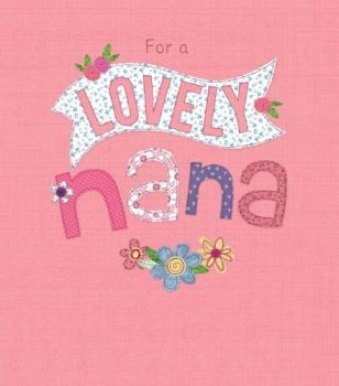 Birthday Card - FOR A Lovely NANA - Cute BIRTHDAY Card For NAN - SPARKLY Birthday GREETING Card - GRANDMA & Nan BIRTHDAY Cards - Nana CARDS