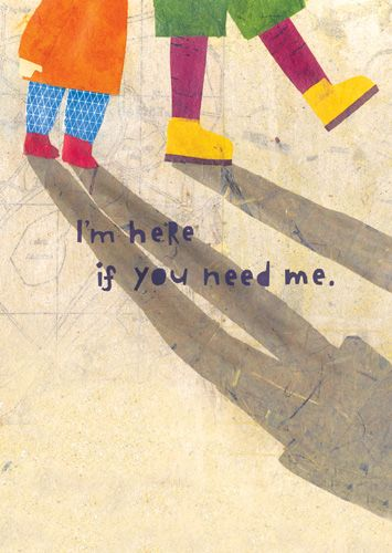 Friendship Card - Here For You Card - I'm Here IF You need ME - Thinking of