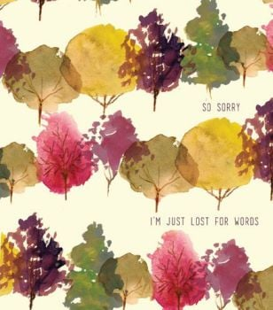 Sorry For You Loss Card - SO Sorry I'm JUST Loss For WORDS - ENCOURAGEMENT Card - Thinking OF YOU Greeting Card - SYMPATHY Card