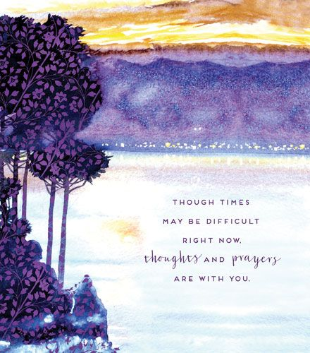 Tough Times Greeting Card - THOUGHTS & Prayers Are WITH You - ENCOURAGEMENT
