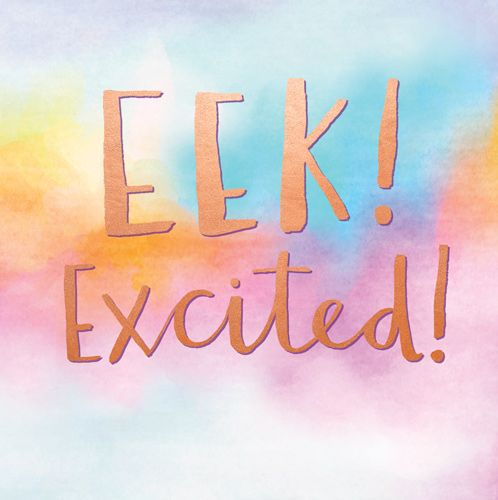 New Baby Cards - EEK EXCITED - Funny NEW Baby CARDS - BABY Girl CARDS - Bab
