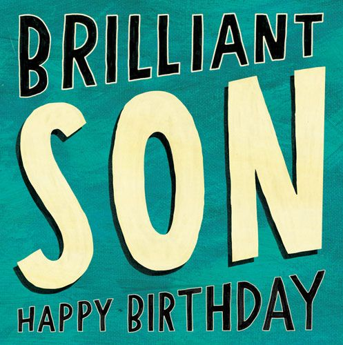 Happy Birthday Son Card - BRILLIANT Son - HAPPY BIRTHDAY - Son BIRTHDAY Car