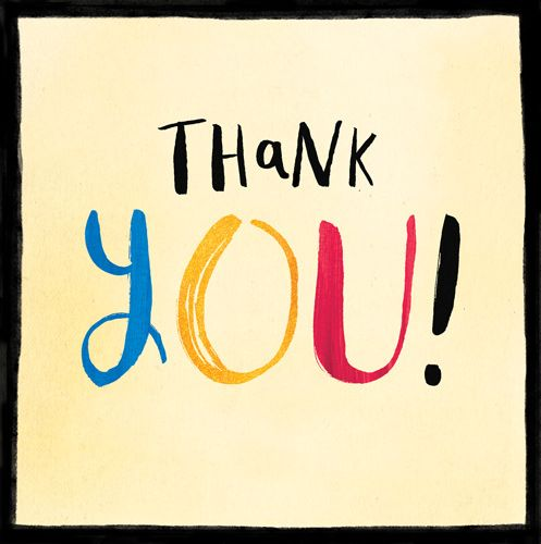 Thank You Cards - THANK You CARD - Colourful THANK You CARD - Thank YOU Car