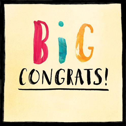 Congratulations Cards - BIG CONGRATS - Congrats CARD - Congratulations GREE