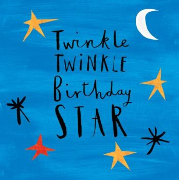 Birthday Card for Boy - TWINKLE Twinkle BIRTHDAY Star - TWINKLE Twinkle Birthday GREETING Card - BIRTHDAY card  for SON - Grandson - BROTHER - Nephew