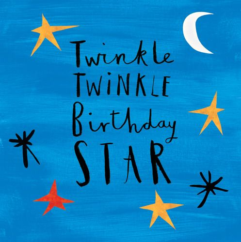Birthday Card for Boy - TWINKLE Twinkle BIRTHDAY Star - TWINKLE Twinkle Bir