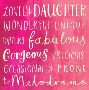 Birthday Card - WONDERFUL Daughter - BIRTHDAY Card For DAUGHTER - Girly BIRTHDAY Cards - PRETTY Pink BIRTHDAY GREETING Card - DAUGHTER Birthday CARD