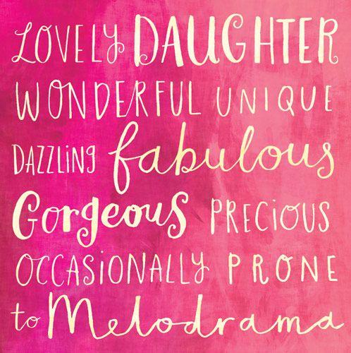 Birthday Card - WONDERFUL Daughter - BIRTHDAY Card For DAUGHTER - Girly BIR