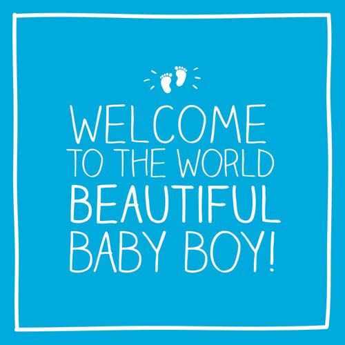 New Baby Boy Cards - WELCOME To The WORLD Beautiful BABY Boy - BABY Boy Car