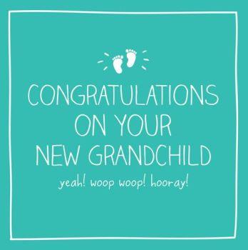 New Grandchild Card - WOOP WOOP - CONGRATULATIONS Grandparents NEW Baby CARD - FIRST Grandchild Card -  First GRANDSON Card - FIRST Granddaughter