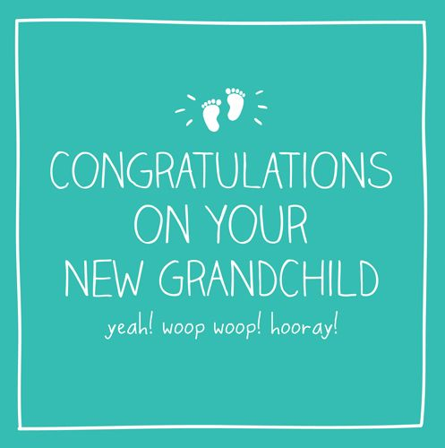 New Grandchild Card - WOOP WOOP - CONGRATULATIONS Grandparents NEW Baby CAR
