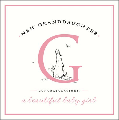 New Granddaughter Cards - New GRANDDAUGHTER - CONGRATULATIONS - New BABY Gr
