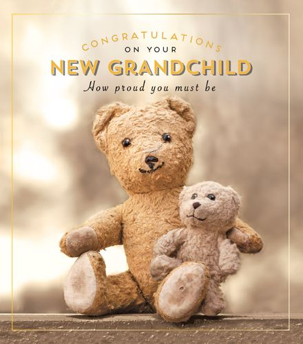 New Grandchild Card - HOW Proud - CONGRATULATIONS Grandparents NEW Baby CAR