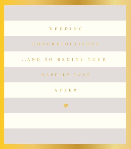 Wedding Day Cards - AND So BEGINS Your HAPPILY Ever AFTER - WEDDING Day Car