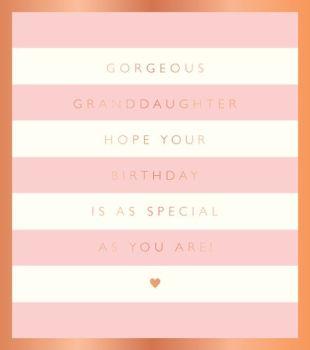 Granddaughter Birthday Card - GORGEOUS Granddaughter - Pretty BIRTHDAY Card For GRANDDAUGHTER - Girly BIRTHDAY Card - SPECIAL Granddaughter CARD