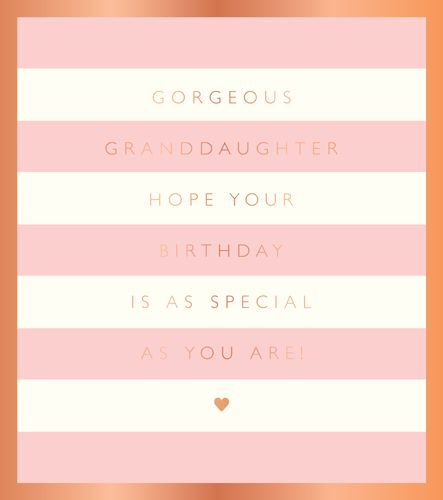Granddaughter Birthday Card - GORGEOUS Granddaughter - Pretty BIRTHDAY Card