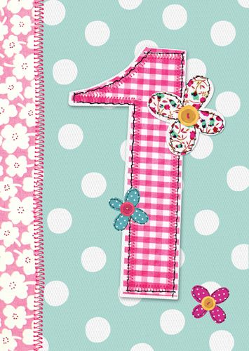 1st Birthday Card Girl - 1st BIRTHDAY Card - DAUGHTER - NIECE Birthday CARD