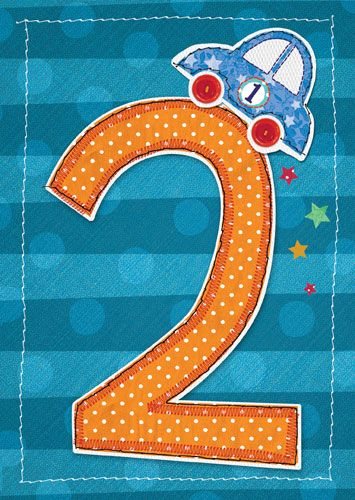 2nd Birthday Card Boy - CAR BIRTHDAY Card - SON - Grandson - NEPHEW BIRTHDA