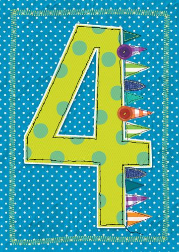 4th Birthday Card Boy - GRANDSON'S 4th BIRTHDAY Card - SON - Nephew BIRTHDA