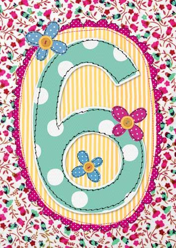 6th Birthday Card Girl - BIRTHDAY Card For LITTLE Girl - PRETTY Children's