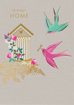 New Home CARD - HOUSEWARMING Card - MOVING CARD - LUXURY Gold FOIL Greeting CARD