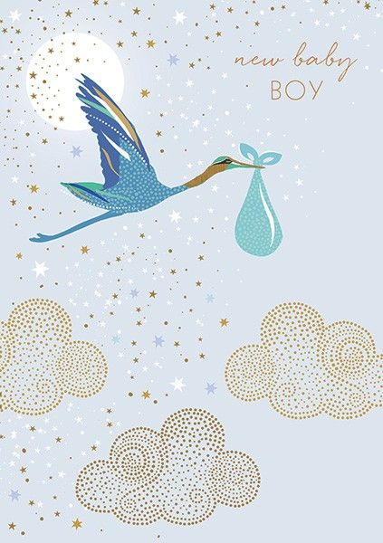 New Baby Boy Cards - NEW Baby BOY - Baby BOY Cards - BEAUTIFUL Gold FOIL Ne
