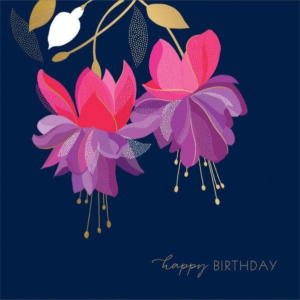 Floral GREETING Card - HAPPY Birthday GREETING Card - Luxury Birthday CARD
