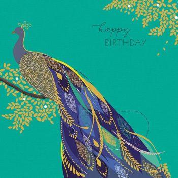Peacock Cards - PEACOCK Birthday CARDS - Greeting Card - HAPPY Birthday - BIRD Birthday CARD - Birthday CARD For MUM - Gran - Nan - SISTER