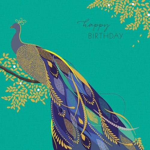 Peacock Cards - PEACOCK Birthday CARDS - Greeting Card - HAPPY Birthday - B