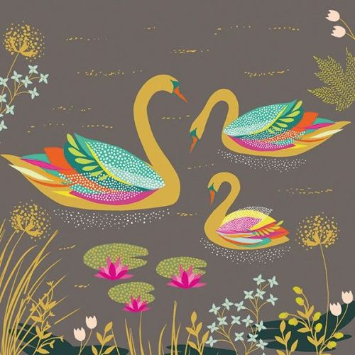 New Baby Cards - Swan NEW Baby CARD - BABY Girl Card - BABY Boy Card - NEWB