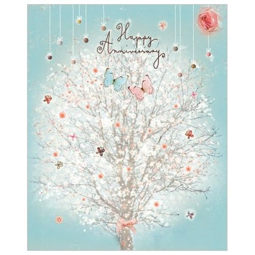 Anniversary Cards - HAPPY Anniversary - Wedding ANNIVERSARY Cards - BUTTERF