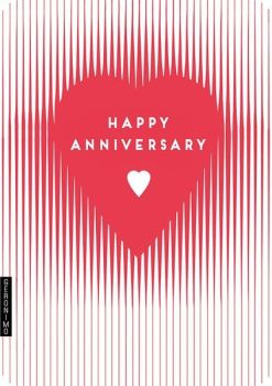 Love Heart Anniversary Card - HAPPY Anniversary - Heart CARD - Anniversary CARDS - WEDDING Anniversary CARDS For HUSBAND - Wife - FRIENDS - PARENTS