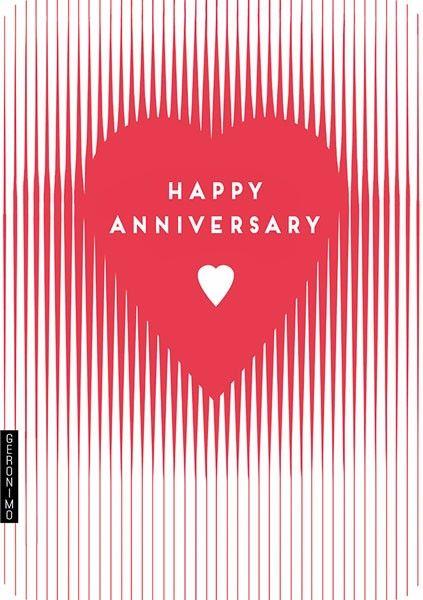 Love Heart Anniversary Card - HAPPY Anniversary - Heart CARD - Anniversary