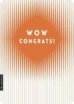Congratulations Cards - WOW CONGRATS - Copper Foil CONGRATULATIONS Card - CONGRATULATIONS Card BABY - New JOB - Engagement - WEDDING - Promotion