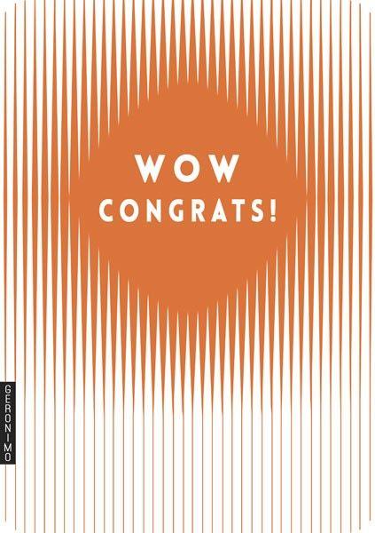 Congratulations Cards - WOW CONGRATS - Copper Foil CONGRATULATIONS Card - C