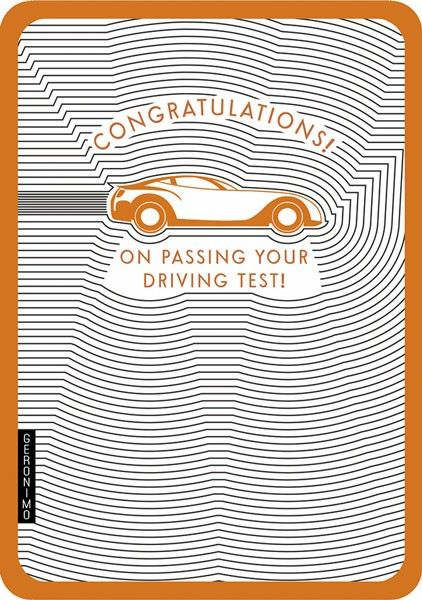 Passed Driving Test Congratulations Cards - Driving Test Cards - Congratula
