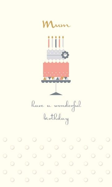 Mum Birthday Cards - MUM Have A WONDERFUL Birthday - BIRTHDAY Cards For MUM