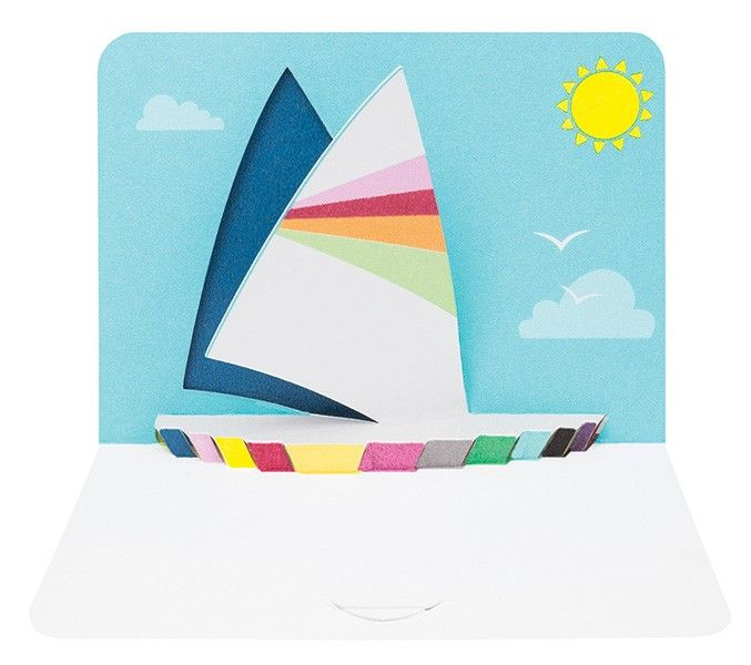 Leaving Cards - RETIREMENT Cards - POP Up CARD - Luxury Yacht - SAILING Car