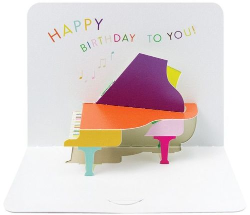 Pop Up Piano Birthday Card - HAPPY BIRTHDAY TO YOU - Music Themed CARD