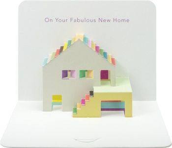 Pop Up Luxury New Home Card - HOUSEWARMING Card - NEW House CARD - Moving HOUSE CARD