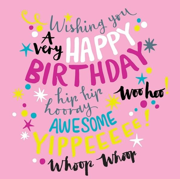 Funny Birthday Wishes Pink: PINK Girly Birthday CARD