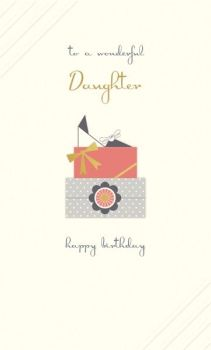 Daughter Birthday Cards - TO A Wonderful DAUGHTER - HAPPY BIRTHDAY Daughter CARD - BIRTHDAY Card For DAUGHTER - Birthday PRESENTS Card