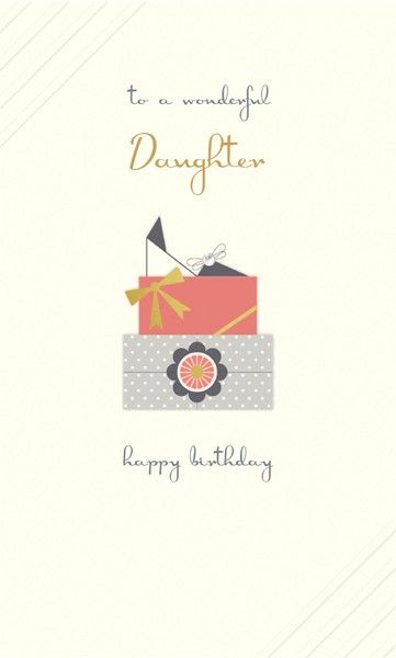 Wonderful Daughter Birthday Cards - HAPPY BIRTHDAY Daughter CARD - Gem Embe