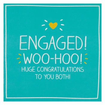 Funky Engagement Card - ENGAGED - WOO-HOO!