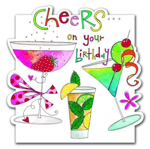 Drinking Birthday Cards - COCKTAIL Birthday Cards - CHEERS On Your BIRTHDAY