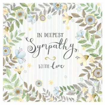 Sympathy & Condolence Card - IN Deepest SYMPATHY - WITH Love - Bereavement CARD - THINKING Of YOU Greeting Card